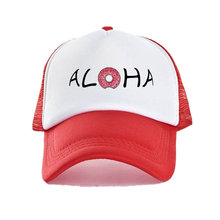 4908b229e45 Fashion Aloha Beach Pineapple Trucker Hat Hawaii Coconut Tree Baseball Caps  Donut Aloha Friday Breathable Mesh