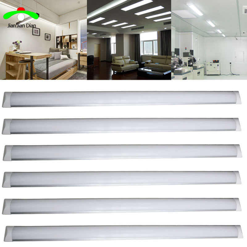 "10pcs led tube 36W 2FT 3FT 4Ft 48"" LED Batten Linear Light Bar Fluorescent Tube Lamp 120cm 110V 220V Office supermarket home"