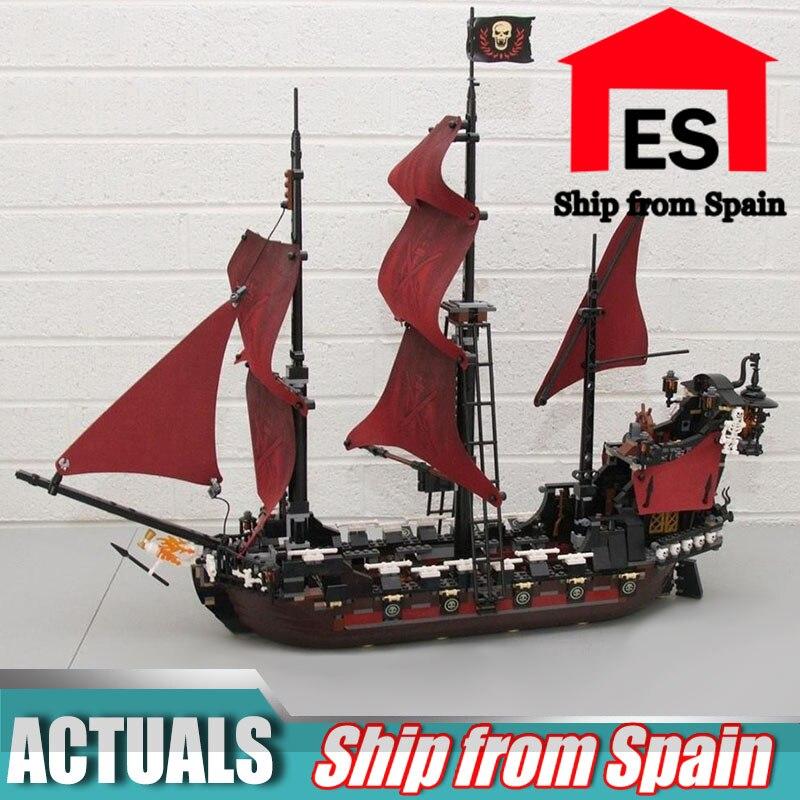 16009 Pirates of The Caribbean Queen Anne's Reveage boot Model Compatibel met 4195 Bouwstenen Baksteen kinderen Speelgoed-in Blokken van Speelgoed & Hobbies op  Groep 1