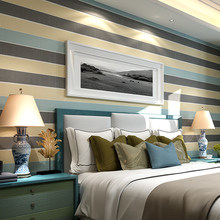 beibehang Modern simple fashion stripes vertical and horizontal color stripes wallpaper bedroom backdrop living room wallpaper