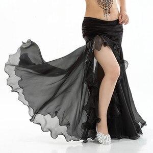 Image 2 - Women Belly dance costume lady bellydancing skirt 2 layer mesh skirt sexy bellydance wrap skirt performance dancewear