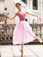 80CM Long Tutu Rose Pink Red White Black Mesh Lace Ballet Skirt Adult Women Swan Lake Ballerina Dance Tulle Elastic Waist Skirts(China)