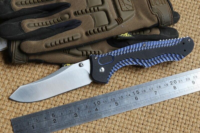 DICORIA BM810 G10 ручка складной нож M4 Сталь лезвие Медь шайба кемпинг охоты карман клип Открытый выживания Ножи EDC инструмент