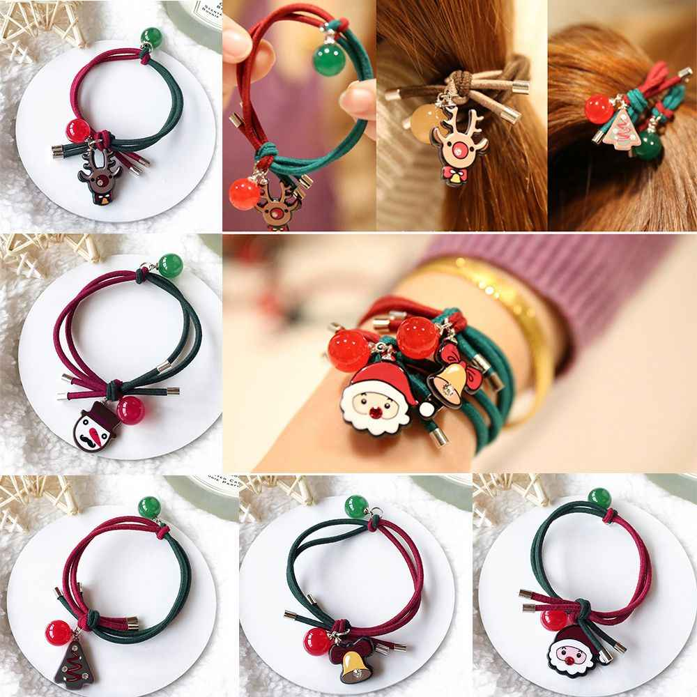 1 Pcs New Kids Girls Hair Rope Xmas Hair Ties Ponytail Rope for Girls Christmas Gift Fashion Hair Accessories