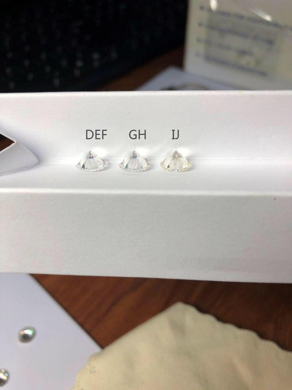Laboratoire a cultivé des diamants en vrac moissanite pierre gemme 0.8 ct GH couleur 6mm taille brillante VVS forme ronde test positif Provence bijoux