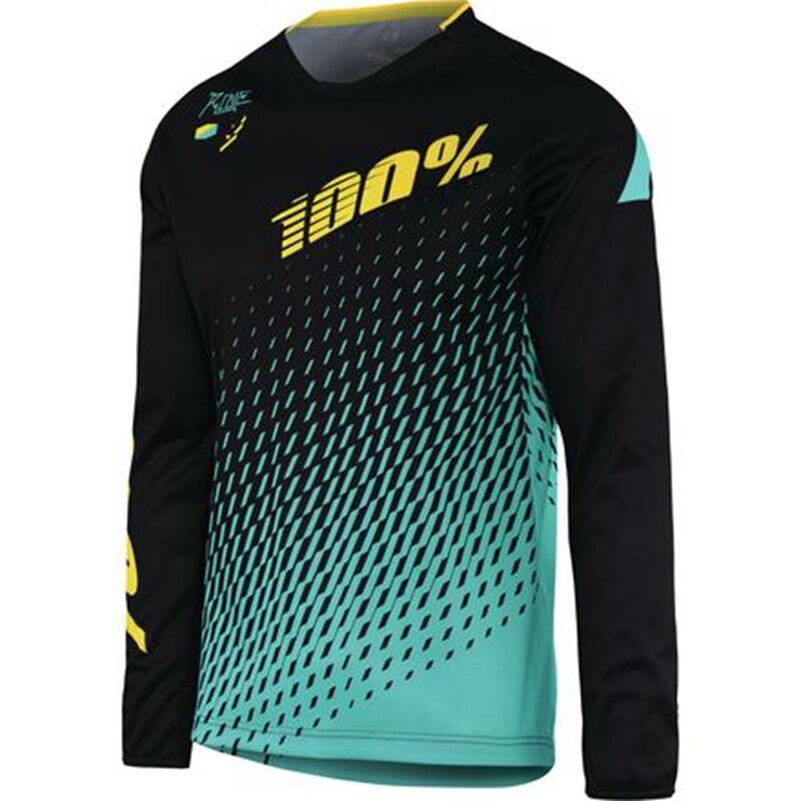 Prix pour 2017 100% DH JERSEY descente Vélo à manches longues vélo Jersey MX RBX moto Hors-route Motocross chemise maillot ciclismo VTT