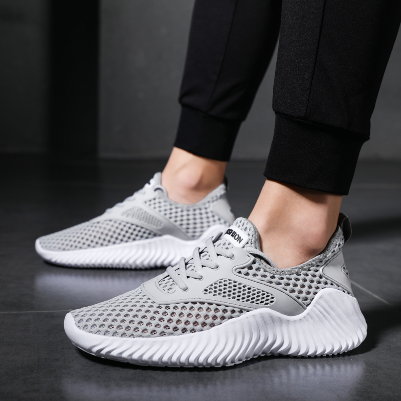 Cheap Man Tennis Shoes Sneakers For Men Trends Comfortable Sports Shoes Male Ultra Light Walking Shoes Black Zapatillas Big Size
