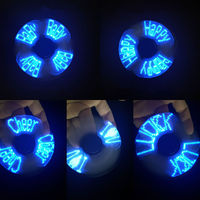 5 Color EDC Changeable Perfect LED Light EDC Hand Spinner Wheel Relieve Stress Kids Toys Gift