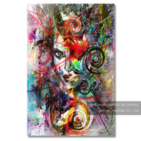 High Quality Abstract Portrait Oil Painting On Canvas Modern Abstract Lady Figure Painting On Canvas For Wall Decoration