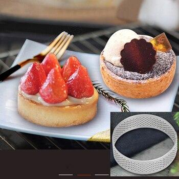 Non-Stick Stainless Steel Material Home Bake Large Size Tart Ring  Mousse Circle Cake Mould Baking Tool circle