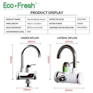 Image 4 - Ecofresh חשמלי ברז מים מיידית ברז ברז דוד קר חימום ברז Tankless מיידי מים דוד