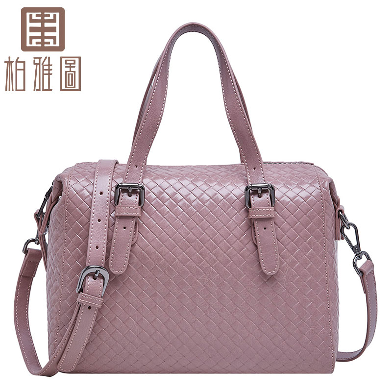 BOYATU Luxury Genuine Leather Weaving Shoulder Bag Fashion Large bag 2017 New  Women handbags Bags boyatu genuine sheepskin leather hand made large handbag fashion commuter bag