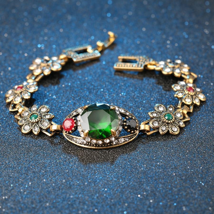 Kualitas tinggi 2015 Mode Warna Emas Bridesmaid Hijau Jewelry Set 2 - Perhiasan fashion - Foto 3