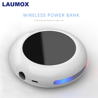 LAUMOX Qi Wireless Charger For iPhone X XS XR 7 8 Plus 10000mAh Power Bank 18W Fast Wireless Charging For Samsung S8 S9 S10