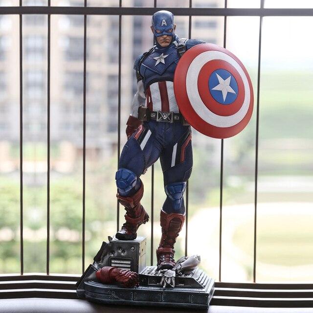 Estatua de PU del Capitán América, 21 pulgadas, 53cm x 25cm x 28cm