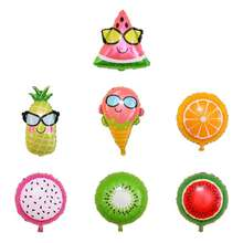 Cute Watermelon Pineapple Ice-cream Fruit Shapes Foil Balloon Summer Birthday Party Decoration Baby Shower Supplies Balloons