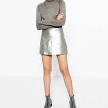 Gold leather skirt online shopping-the world largest gold leather ...