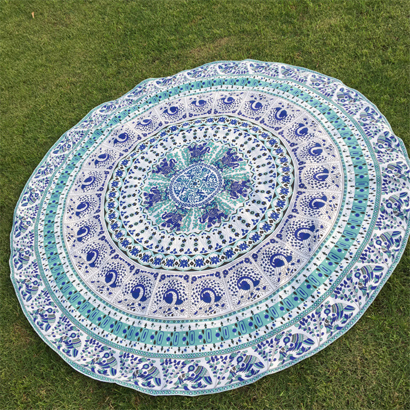 Indian Bohemian Hippie Mandala Tapestry Bed sheet Round Beach towel Blanket Perfect gift For Home/Office Decor.