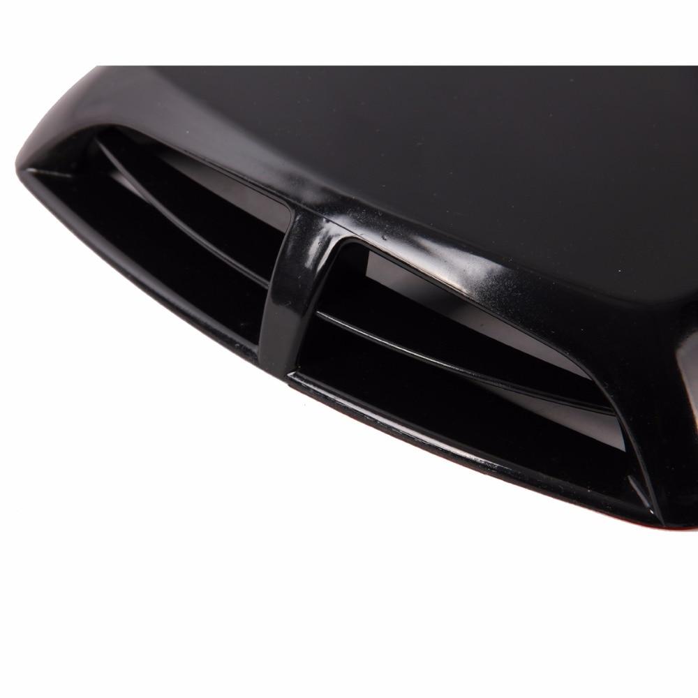 Posbay черный автомобиль вентиляционное отверстие крыло крышка отверстие впускной канал поток решетка украшения передний бампер капот наклейка для VW Chevrolet VW