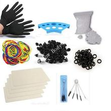 Professional Tattoo Accesories Tattoo Kit ink cups+practice skin+grommets+o-ring for Tattoo machine gun tattoo supplies