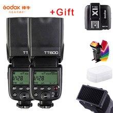 Godox TT600s מצלמה פלאש Speedlite 2.4G אלחוטי מאסטר Slave X1T S הדק HSS TTL עבור Sony a6000 a7 II III IV a58 a6500 a6300