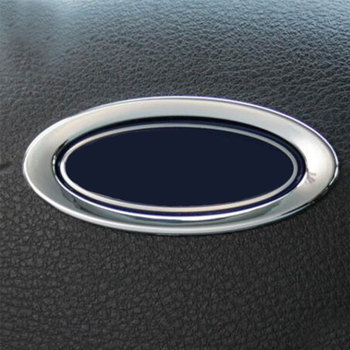 Color My Life Car Steering Wheel ABS Chrome Trim Cover Logo Ring Trim Stickers for Ford Focus 2 3 MK3 4 Kuga Escape 2012 - 2016 image