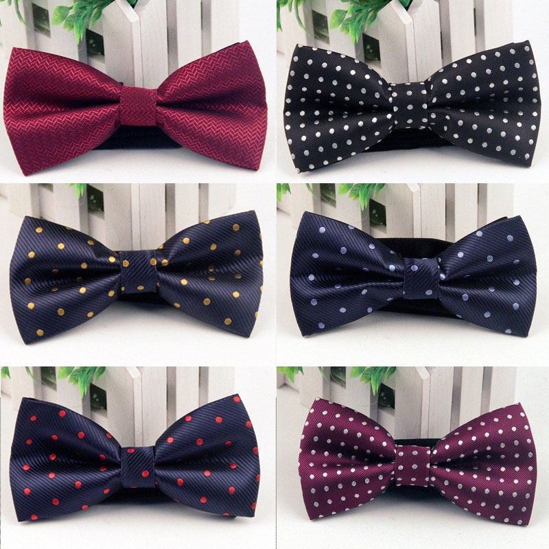 Mantieqingway Men s Bowknot Bow Tie Brand Accessories Popular Mens Business Neckties Bowties Classic Polyester Male