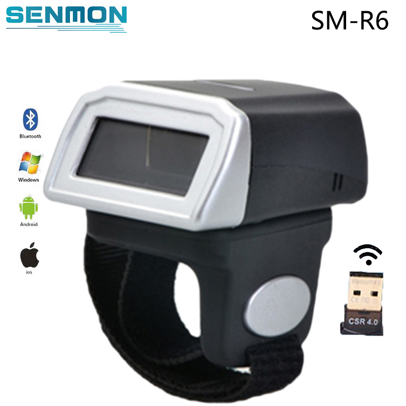 New Wireless Laser Barcode Reader Portable Wearable Ring Barcode Scanner 1D Reader Mini Bluetooth Scanner for Window/Android/IOS xiaying smile summer woman sandals fashion women pumps square cover heel buckle strap fashion casual concise student women shoes