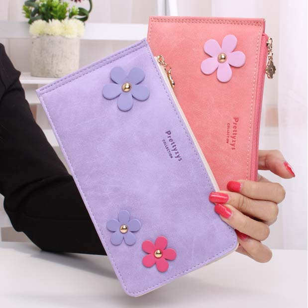 Sweet Lady Floral Wallet Nubuck Leather Zipper Card Holders Bifold Fashion Cash Pocket Girls' Money Purses Female Wallets трусики 4 штуки quelle arizona 463610