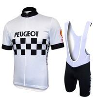 Hot Sale Peugeot Shell Team Pro Cycling Sets Men MTB Shirts Breathable Bike Clothing Kits Quick