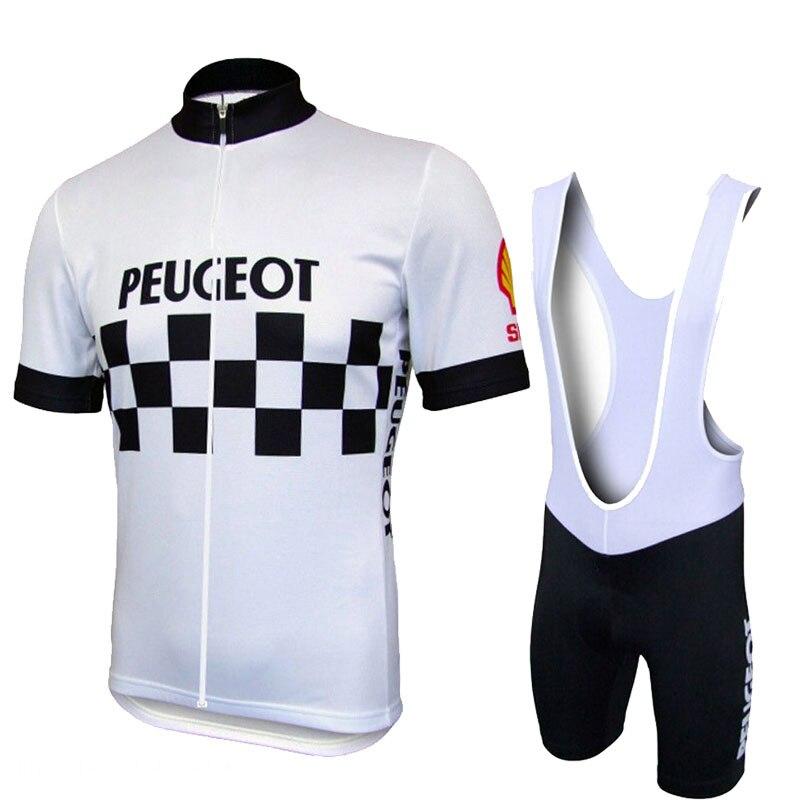 Vente chaude Peugeot Shell Équipe Pro Vélo Définit Hommes VTT chemises Respirant Vélo Vêtements Kits À Séchage Rapide Sport Tops Vélo maillots