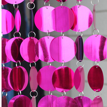 10m PVC Red sequins curtain, Indoor decoration Festive party supplies plastic curtain