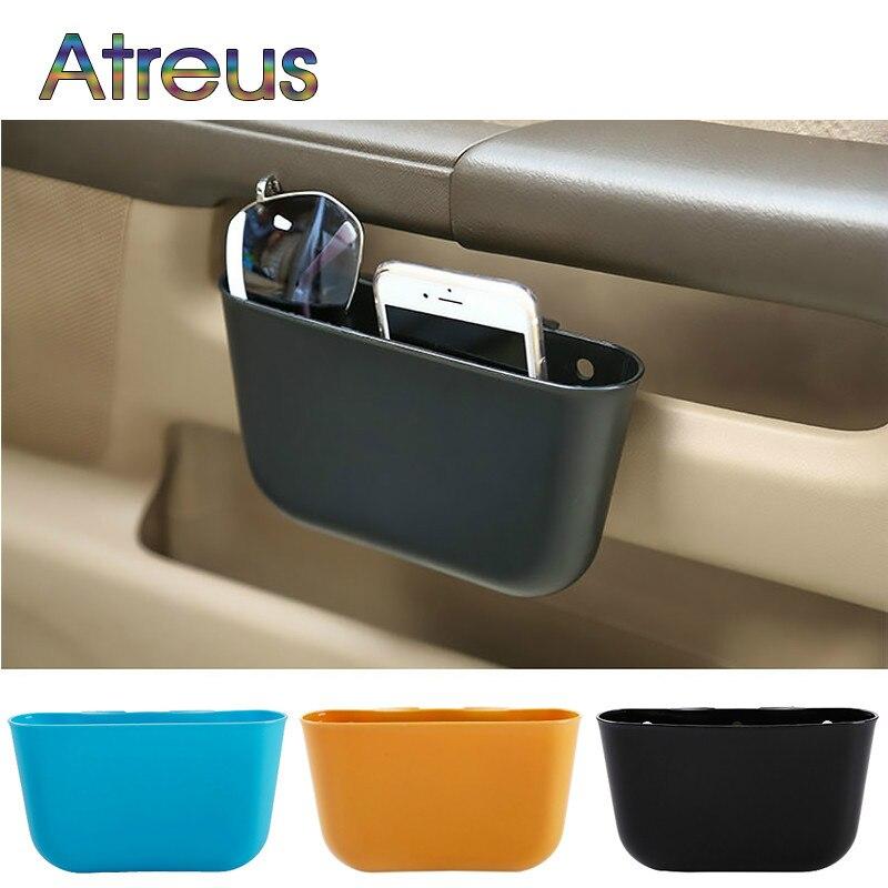 Portable Car Trash Bin Storage Box Phone Holder Storage Bags For Toyota Seat Jeep Skoda Fabia Rapid Renault Duster Audi A3 Q7