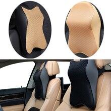 1Pcs Car Memory Foam Neck Pillow Car Seat Headrest Head Pillow Car Travel Neck Pillows High Quality