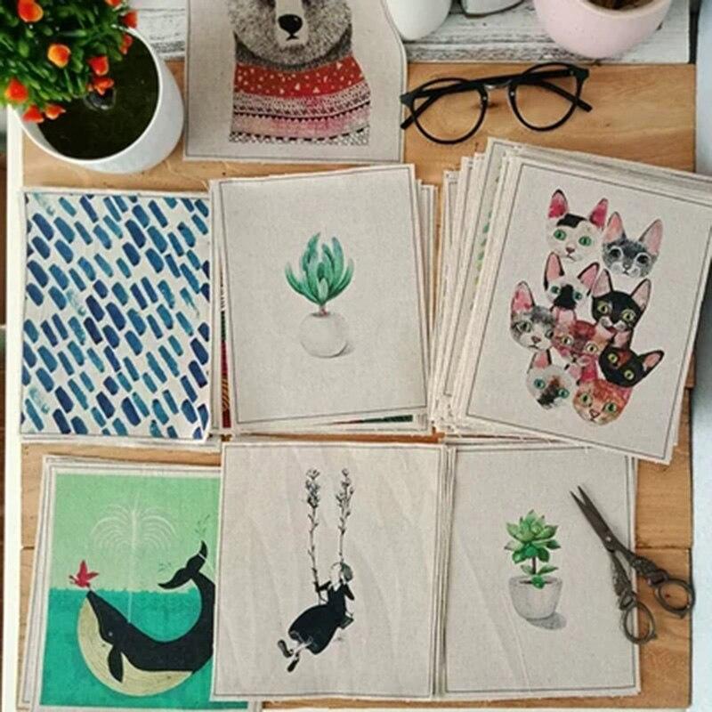 Handmade cloth DIY cotton canvas fabric / positioning cloth hand dyed patchwork cloth digital printing(China)
