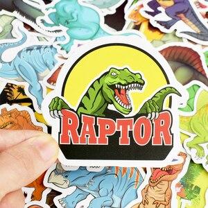 Image 5 - 50pcs/Set Animal Dinosaur Stickers Toys Children Waterproof Stickers To DIY Sticker on Laptop Skateboard Luggage Stickers