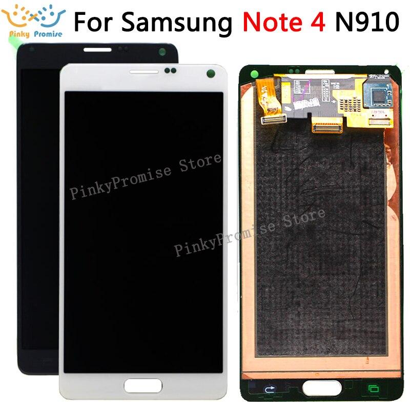 Super AMOLED Phone LCD For Samsung Galaxy Note 4 N910 N910A N910F N910H Display Touch Screen