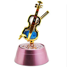 Projection Lamp Lights Violin Music Box Home Bedroom Living Room Carft Portable