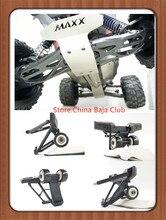 TRAXXAS X-MAXX Guardia Repuestos placa de protección Metálica + wheelie bar con 2 ruedas