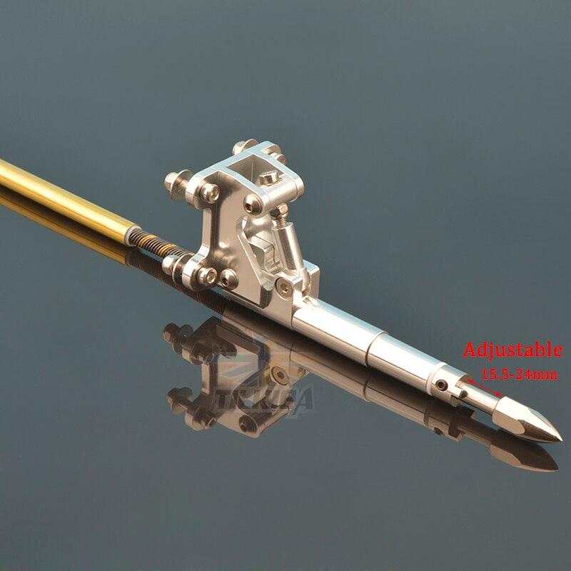 W lewo/w prawo 6.35mm Flex Cable ze podpora stalowa Wałek napędowy pies Prop nakrętka uszczelka rura z mosiądzu do rur z tworzywa sztucznego uchwyt do RC łodzi w Części i akcesoria od Zabawki i hobby na  Grupa 3