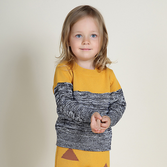 New arrival spring autumn children's kids sweaters baby girls boys sweaters brand design boys girls cotton pollovers