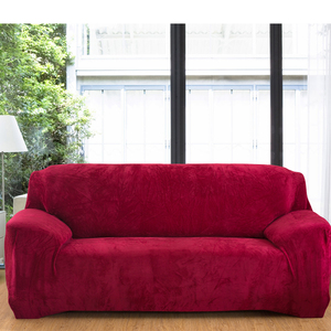 Image 5 - plush thick sofa cover elastic for living room couch cover velvet dust proof for pets slipcovers all inclusive sectional sofa