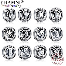 BIG 90% OFF! Original 925 Solid Silver Alphabet Letter A-Z Beads Charms Fit Original Charms Bracelet DIY Jewelry Women Gift AP07(China)
