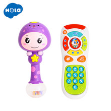 Baby Hammer Toy Dynamic Rhythm Stick & Electric Click & Count Remote with Light & Music(China)