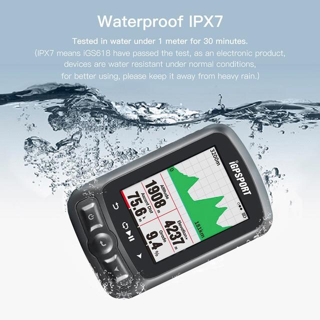iGPSPORT Igs618 GPS Bike Computer Speedometer Waterproof Bicycle Computer 3