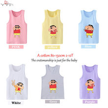Children T Shirt Infant Cotton O Neck Kid Tops sleeveless Tshirt 2019 Crayon Shin-chan Tees Boy Girl T-shirt vest(China)