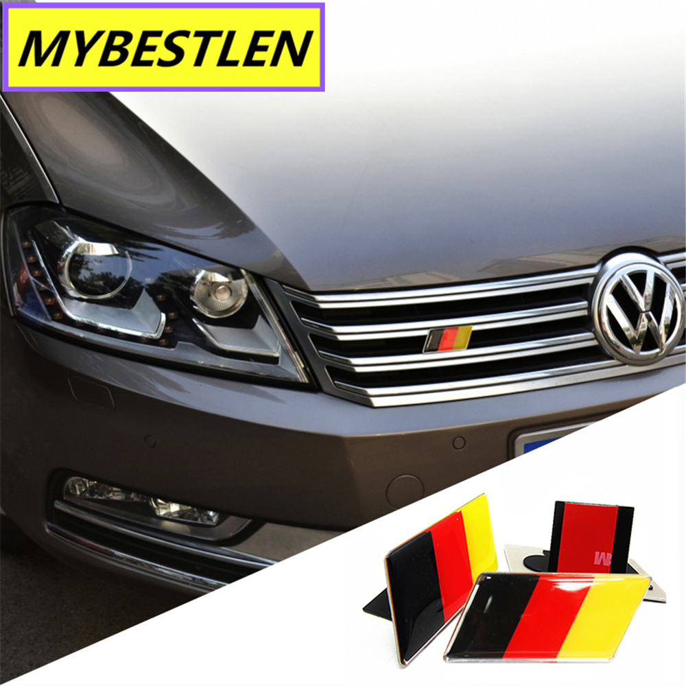 GR-EB49 3D Metal Car Head Grill Badge Emblem Car Styling For Volkswagen VW Jetta MK5 MK6 Polo Golf 6 5 7 POLO Passat B5 B6 B7