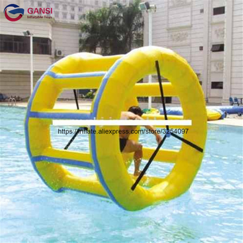 Aqua Park rental using inflatable water roller ,funny water toys Inflatable water wheel for swimming pool