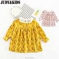 Бобо выбирает одежда 2017 девочек платье маленькая девочка одежда горошек девушка летнее платье малыша платья костюм для детей