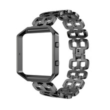 Лидер продаж Hour Clock роскошный браслет из нержавеющей стали умные часы браслет ремешок + чехол для fitbit Blaze подарки Прямая доставка